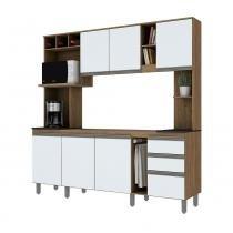Cozinha Compacta B111 com Garrafeiro 7 Portas 2 Gavetas Briz -