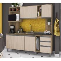 Cozinha Compacta B111 Rustico Fendi Briz -