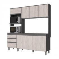 Cozinha Compacta B112 Gris Palha Briz -