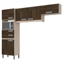 Cozinha Compacta BE107 Fendi Moka Briz -