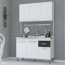 Cozinha Compacta Brasil Indekes Branco/Branco/Grafite - Indekes