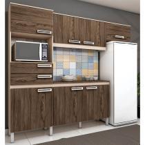 Cozinha Compacta Brizz B107 com 7 Portas 2 Gavetas - Henn -