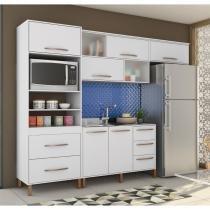 Cozinha Compacta Canela Armário, Aéreos e Balcão Albatroz - Branco -