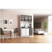 Cozinha Compacta Colormaq Ipanema Master - 5 Portas 4 Gavetas Aço