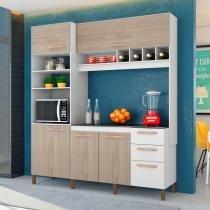 Cozinha Compacta Com 05 Portas E 03 Gavetas 180 cm Cacau - Albatroz móveis