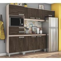 Cozinha Compacta Com Balcao BE107 BEC107 Fendi Moka Briz -