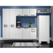 Cozinha Compacta com Balcão Rubi Smart em Aço - Branco - Telasul