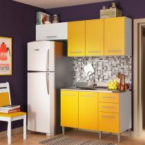Cozinha Compacta Elis Suzana Branco E Amarelo - Glamy