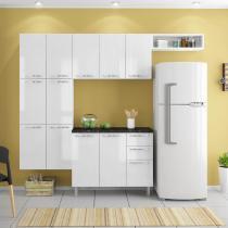 Cozinha Compacta em Aço Única CasaMob Branco Sal -