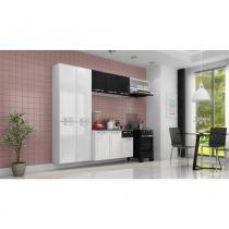 Cozinha Compacta Itatiaia Amanda - Branco/Preto - Itatiaia
