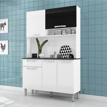 Cozinha Compacta Itatiaia Amêndoa 6000000693 - 5 Portas 1 Gaveta