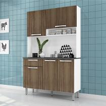 Cozinha Compacta Itatiaia Amêndoa 6000000709 - 5 Portas 1 Gaveta