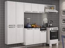 Cozinha Compacta Itatiaia Rose  - 7 Portas Aço + Balcão com Tampo 3 Portas 1 Gaveta