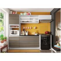 Cozinha Compacta Madesa Bianca com Balcão - 5 Portas 3 Gavetas