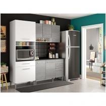 Cozinha Compacta Madesa Cintia com Balcão  - Nicho para Forno 8 Portas 3 Gavetas