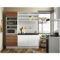 Cozinha Compacta Madesa Gabriela com Balcão - Nicho para Forno 5 Portas 3 Gavetas