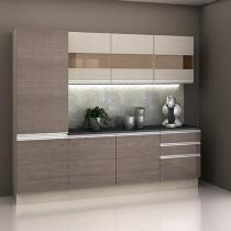 Cozinha Compacta Madesa Glamy com Balcão 7 Portas 3 Gavetas