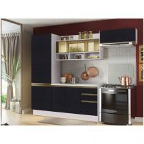 Cozinha Compacta Madesa Glamy New G2006809R - com Balcão 7 Portas 2 Gavetas