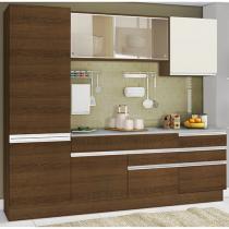 Cozinha Compacta Madesa Glamy Plus com Balcão - 6 Portas 5 Gavetas