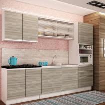 Cozinha Compacta Madesa Glamy Spezia com Balcão - 9 Portas 3 Gavetas