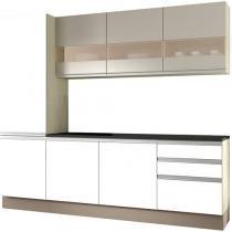 Cozinha Compacta Madesa Glamy Top com Balcão 7 Portas