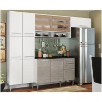 Cozinha Compacta Madesa Laura com Balcão - 9 Portas 3 Gavetas