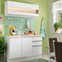 Cozinha Compacta Madesa Smart G20071 - com Balcão 6 Portas 2 Gavetas 100 MDF
