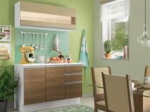 Cozinha Compacta Madesa Smart G20071097G - com Balcão 6 Portas 2 Gavetas 100 MDF