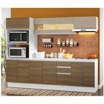 Cozinha Compacta Madesa Smart G20073097G - com Balcão 12 Portas 2 Gavetas 100 MDF