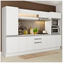 Cozinha Compacta Madesa Smart G200740909 - com Balcão 12 Portas 2 Gavetas 100% MDF