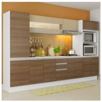 Cozinha Compacta Madesa Smart G20074097G  - com Balcão 12 Portas 2 Gavetas 100 MDF