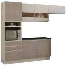 Cozinha Compacta Madesa Top Glamy com Balcão - 6 Portas 3 Gavetas
