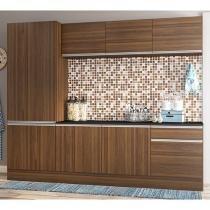 Cozinha Compacta Multimóveis Línea - 5224130000000 com Balcão 8 Portas 1 Gaveta