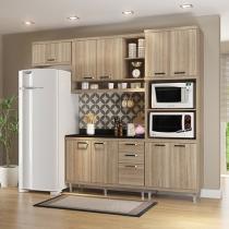 Cozinha Compacta Multimóveis Linea Sicília - com Balcão Nicho para Forno ou Micro-ondas
