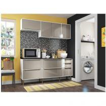 Cozinha Compacta Multimóveis New Paris 2836.892 - com Balcão 8 Portas 3 Gavetas