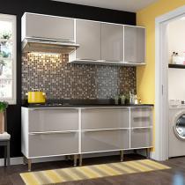 Cozinha Compacta Multimóveis Paris com Balcão - 7 Portas 4 Gavetas