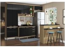 Cozinha Compacta Multimóveis Sicília com Balcão - 11 Portas 3 Gavetas