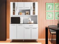 Cozinha Compacta Poliman Gabi com Balcão - Nicho para Micro-ondas 8 Portas 1 Gaveta