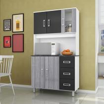 Cozinha Compacta Poliman Móveis Caribe - 5 Portas 3 Gavetas