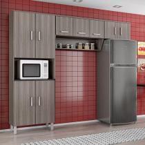 Cozinha Compacta Poliman Móveis Franciele - 9 Portas