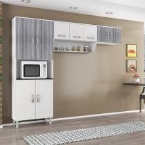 Cozinha Compacta Poliman Móveis Franciele - Nicho para Micro-ondas 9 Portas