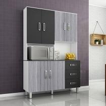 Cozinha Compacta Poliman Móveis Kairos - 7 Portas 3 Gavetas