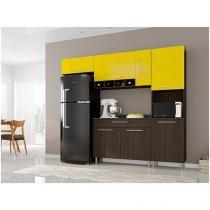 Cozinha Compacta Poliman Móveis Luna - com Balcão 7 Portas 1 Gaveta