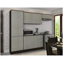 Cozinha Compacta Poliman Móveis Paris Plus J09010 - com Balcão 9 Portas 2 Gavetas