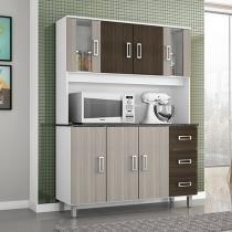 Cozinha Compacta Poliman Móveis Ravena - 7 Portas 3 Gavetas