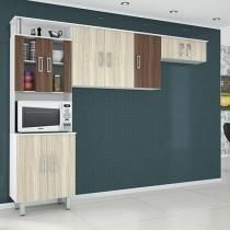 Cozinha Compacta Poliman Móveis Suíça - 9 Portas