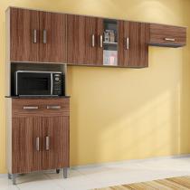 Cozinha Compacta Poliman Móveis Vitória - 8 Portas 1 Gaveta