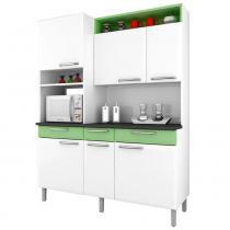Cozinha Compacta Regina 6 Portas I3G3-155 Branco/Verde 2V - Itatiaia - Itatiaia