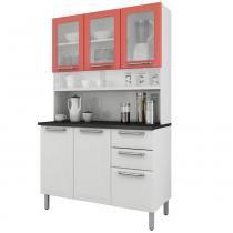 Cozinha Compacta Regina 6 Portas I3VG2-120 Branco/Salmão 2V - Itatiaia - Itatiaia