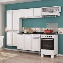 Cozinha Compacta Rose com Balcão 3 Portas 1 Gaveta em Aço - Branco - ITATIAIA